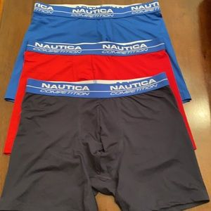 3 pairs Nautica Competition Boxer Briefs
